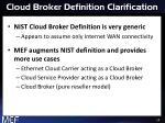 cloud broker definition clarification