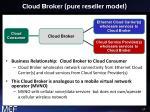 cloud broker pure reseller model