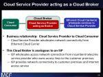 cloud service provider acting as a cloud broker