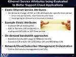 ethernet service attributes being evaluated to better support cloud applications