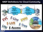 mef definitions for cloud community