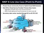 mef e line use case point to point