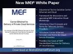 new mef white paper