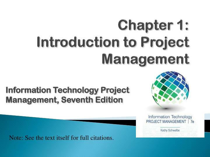 chapter 1 introduction to project management n.