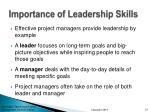 importance of leadership skills