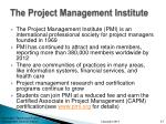 the project management institute