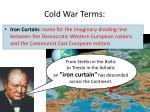 cold war terms