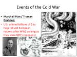 events of the cold war
