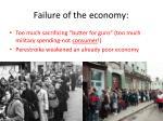failure of the economy