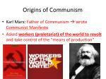 origins of communism