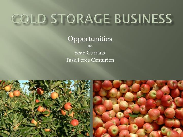 cold storage business n.