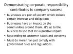 demonstrating corporate responsibility contributes to company success