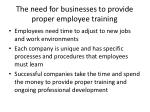 the need for businesses to provide proper employee training