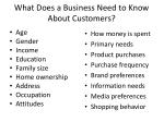 what does a business need to know about customers