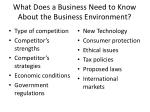 what does a business need to know about the business environment