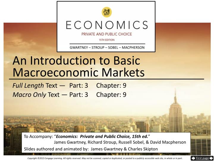 an introduction to basic macroeconomic markets n.