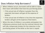 does inflation help borrowers
