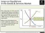 long run equilibrium in the goods services market2