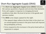 short run aggregate supply sras