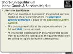 short run equilibrium in the goods services market