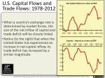 u s capital flows and trade flows 1978 2012