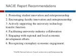 nacie report recommendations