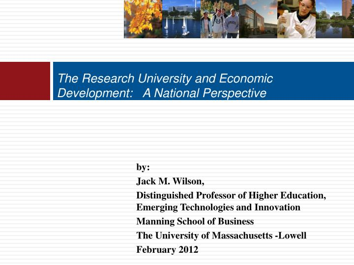 the research university and economic development a national perspective n.