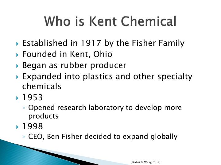 Who is kent chemical