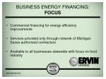 business energy financing focus