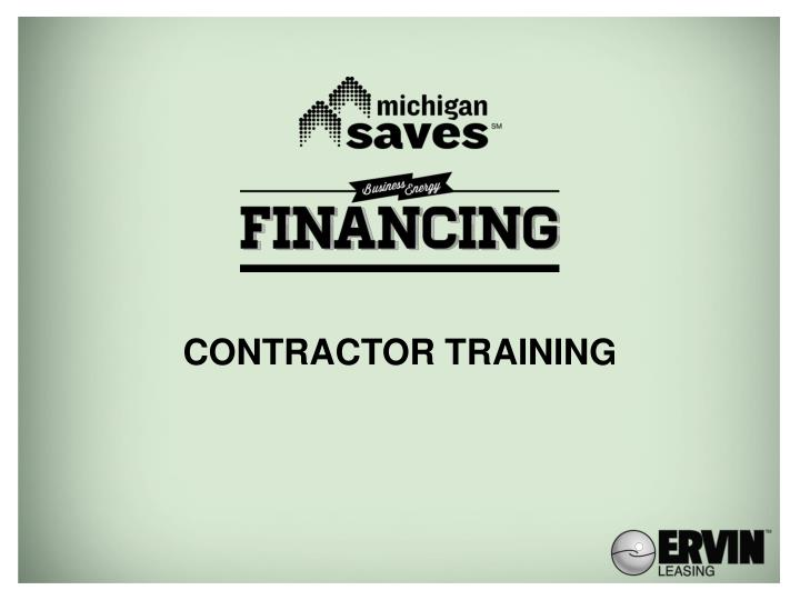 contractor training n.