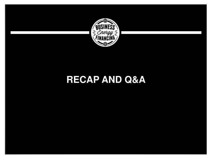 Recap and Q&A