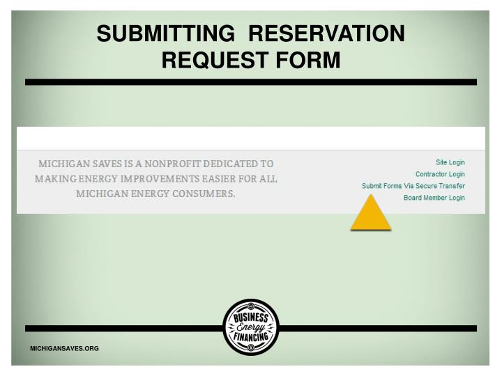 Submitting  Reservation