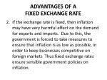 advantages of a fixed exchange rate1
