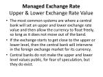 managed exchange rate upper lower exchange rate value