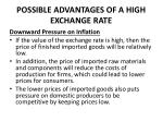 possible advantages of a high exchange rate1