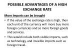 possible advantages of a high exchange rate2