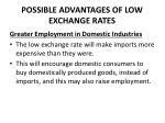 possible advantages of low exchange rates2