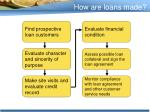 how are loans made