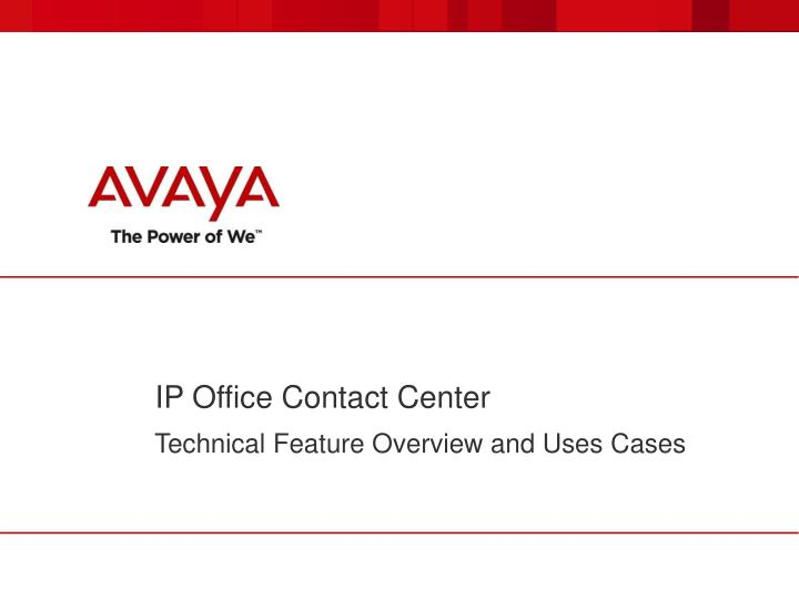 ip office contact center n.