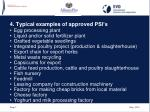 4 typical examples of approved psi s