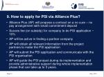 9 how to apply for psi via alliance plus