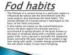 fod habits