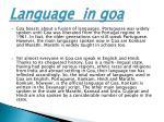 language in goa