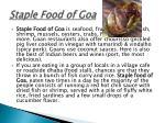 staple food of goa