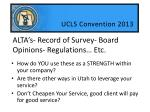 alta s record of survey board opinions regulations etc