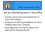 set up a marketing team in your office