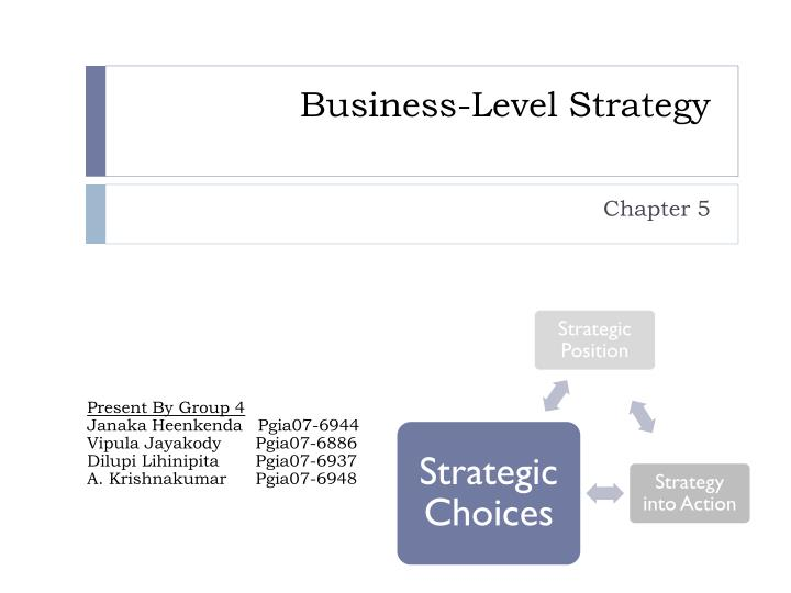 business level strategy n.