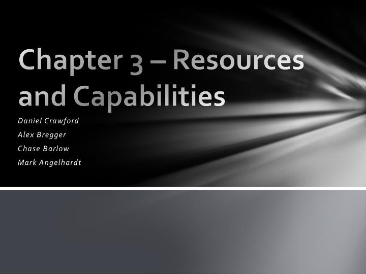 chapter 3 resources and capabilities n.