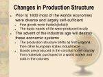 changes in production structure