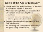 dawn of the age of discovery
